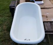 Antique Claw Foot Bath Tub Built 10-30-1933 In Louisville Ky. Great Shape