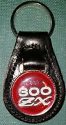 Datsun 300zx Vintage - Red Genuine Leather Key Fob/key Ring 1/ea