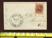 Hawaii Scott 31a Used Stamp On Small Cover With Negative 'hi' Cancel H 31-c1