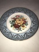 Vintage Liverpool Rd. Pottery Ltd Stoke-on-trent England 8.75andrdquo Plate Floral