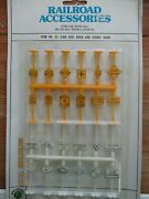 Bachmann Ho Rail Road And Street Signs 24 Pcs 42-2304-yellow And Whitenew