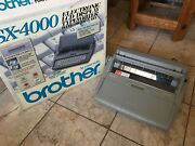 Tested Working Brother Electric Typewriter Sx-4000