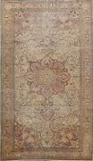 Antique Floral Vegetable Dye Anatolian Turkish Hand-knotted Wool Area Rug 6and039x10and039