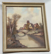 Painting/print Monte Village With Arch Bridge 19 11/16x23 5/8in Frame 158252