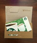 Starbucks Gift Card 2018 Recycled Paper Envelope Gold Holiday Cheer No Value