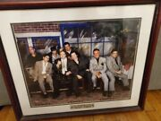 The Sopranos Cast Signed 26x22.5andrdquo Picture Framed With Coa And Photo Proof
