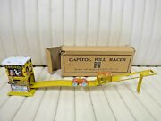 1930s Unique Art - Capitol Hill Racer Wind-up Tin Lithographed Toy W/ Box