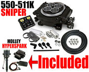 Holley 550-511k Sniper Efi Self-tuning Master Kit Black Distrib Coil Box Combo