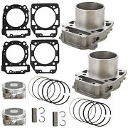 Front Rear Cylinder Piston Set For Bombardier Brp Can-am Outlander 800 2006-2015