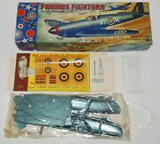 Rare Aurora Spitfire Famous Fighters Airplane Model Kit - Factory Sealed Bag