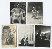Cole Porter Composer Personal Photographs And Signed Portrait To Sam Stark