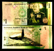 Kingdom Of Tonga 1 Banknote World Paper Money Unc Currency Bill Note