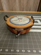 Longaberger 2005 Inaugural Basket With Liner Lid And Tie On
