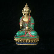 Chinese Collectibles Brass Figure Carved Apothecary Buddha Statue Fx007