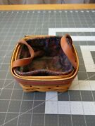 Longaberger 1999 Fathers Day Tee Basket With Liner