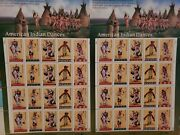 Us Stamp Mnh 3076a American Indian Dances 1996/2ea. Pane Of 20 .32 Cent