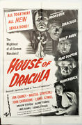 House Of Dracula Original Military Poster For The 1945 Movie 1960and039s R