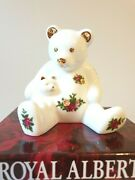 Royal Doulton / Royal Albert Old Country Roses Teddy Bear With Cat