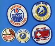 World Hockey Association Wha Embroidered Patches - Read Description