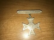 Wwi Us Army And Marine Corps Sharpshooter Badge Pin-back Sterling Silver Ww1