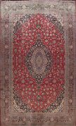 Antique Floral Ardakan Dabir Area Rug Hand-knotted Wool Palace Size Carpet 12x17