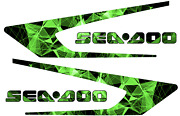 Graphic Replacement Kit Decal Boat Sportster Sea Doo Speedster 150 Geometric