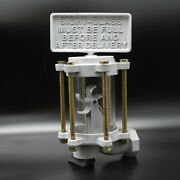 Visi-meter Sight Glass For Antique / Vintage Clock Face Gas Pump - Universal