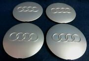 Audi A6 95-98 S6 95-97 Silver Center Caps - Set Of 4 - Fits The 15 Alloy Wheel