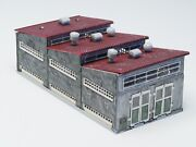 Z-scale Scratch Built Dual Locomotive Shed Stall With Electric Doors