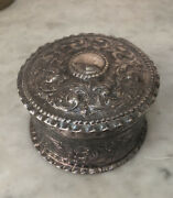 Antique Victorian Sterling Silver Powder Jewelry Box Holder