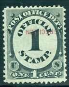 Us Scott O47sb 1andcent 1875 P.o Dept. Special Printing W/ Inverted Ovpt Dfp 7/9/20