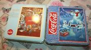 Coca-cola Lot Of 2 Jigsaw Puzzles Collectors Tins Fairy Years And Polar Bear