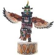 Hopi Indian Kachina Doll Eagle Dancer Katsina Sculpture 13.5 Lrg Milton Howard