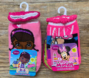 2 Girls' 18-24 Mo Doc Mcstuffins And Minnie Mouse Socks- 3 Pair Each-6 Pair Total