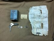 1941-1951 Ford Car Nos Accessory Gas Tank Door Or Lid Lock Cylinder And Parts