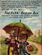 Parr English Pad Cure For All Malarial Or Contagious Diseases 1880and039s Trade Card