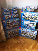 Lego City Police Super-pack Collection 2005-2008 7237-17237-2 7744etc+