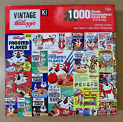 Vintage Kellogg's - Frosted Flakes Retro Boxes - 1000 Piece Jigsaw Puzzle Free