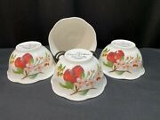 Lenox Orchard In Bloom Set Of 4 Rice Bowls 5 3/4