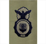 Genuine U.s. Air Force Embroidered Identification Badge Security Police - Abu
