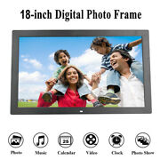 18 Led Digital Photo Frame Electronic Picture Video Player Clock Music Dispaly