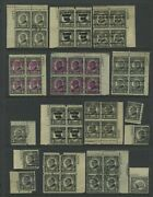 Lot Of 10+ 612 Harding Perf 10 Rotary Press Used Plate Blocks And Stamps Precancel
