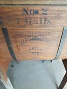 Antique Wooden 2 Standard Co. Butter Churn 7 Gal. W/decals From 1880's