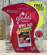 Limited Edition Glade Plug Ins Scented Oil Refill+warmer- Apple Tree Picnic 2 Pk