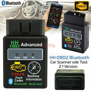 Obd2 Automotive Car Bluetooth Diagnostic Device Android Cell Phone Adapter