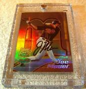 Joe Mauer 2002 Bowmanand039s Best Gold Refractor Auto Rookie 110 Only 50 Produced