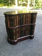 Vintage Maitland Smith Occassional Library Table - Signature Leather Book