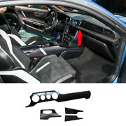 For Ford Mustang 2015-2021 Middle Console Dashboard Strip Trim Dry Carbon Fiber
