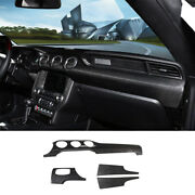 For Ford Mustang 2015-2021 Middle Console Dashboard Panel Trim Dry Carbon Fiber