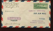 Scott C13 Graf Zeppelin Used Stamp On Nice Fdc First Flight Cover April 19, 1930